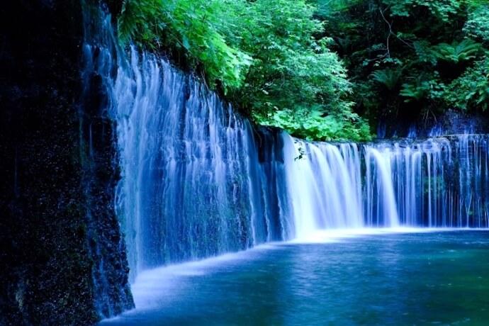 白糸の滝 軽井沢 観光地