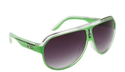 DE Stunnas Sporty Clear II Green White and Black