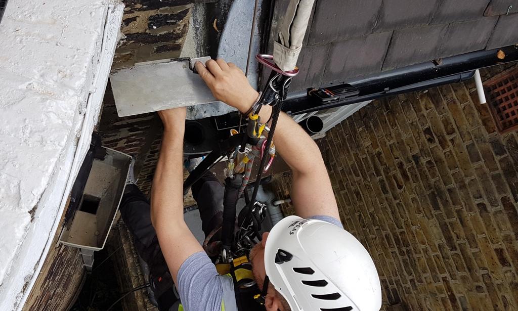 rope access brick pointing repair