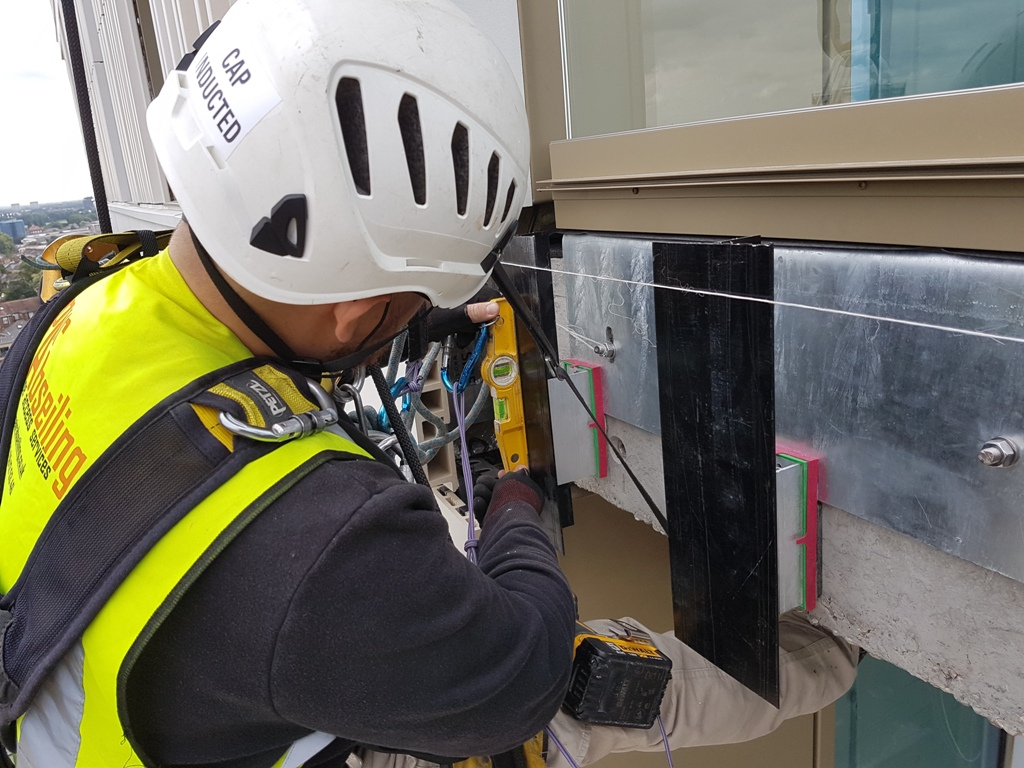 abseiling cladding