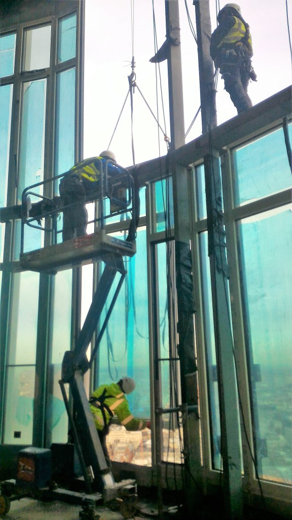 rope access curtain walling