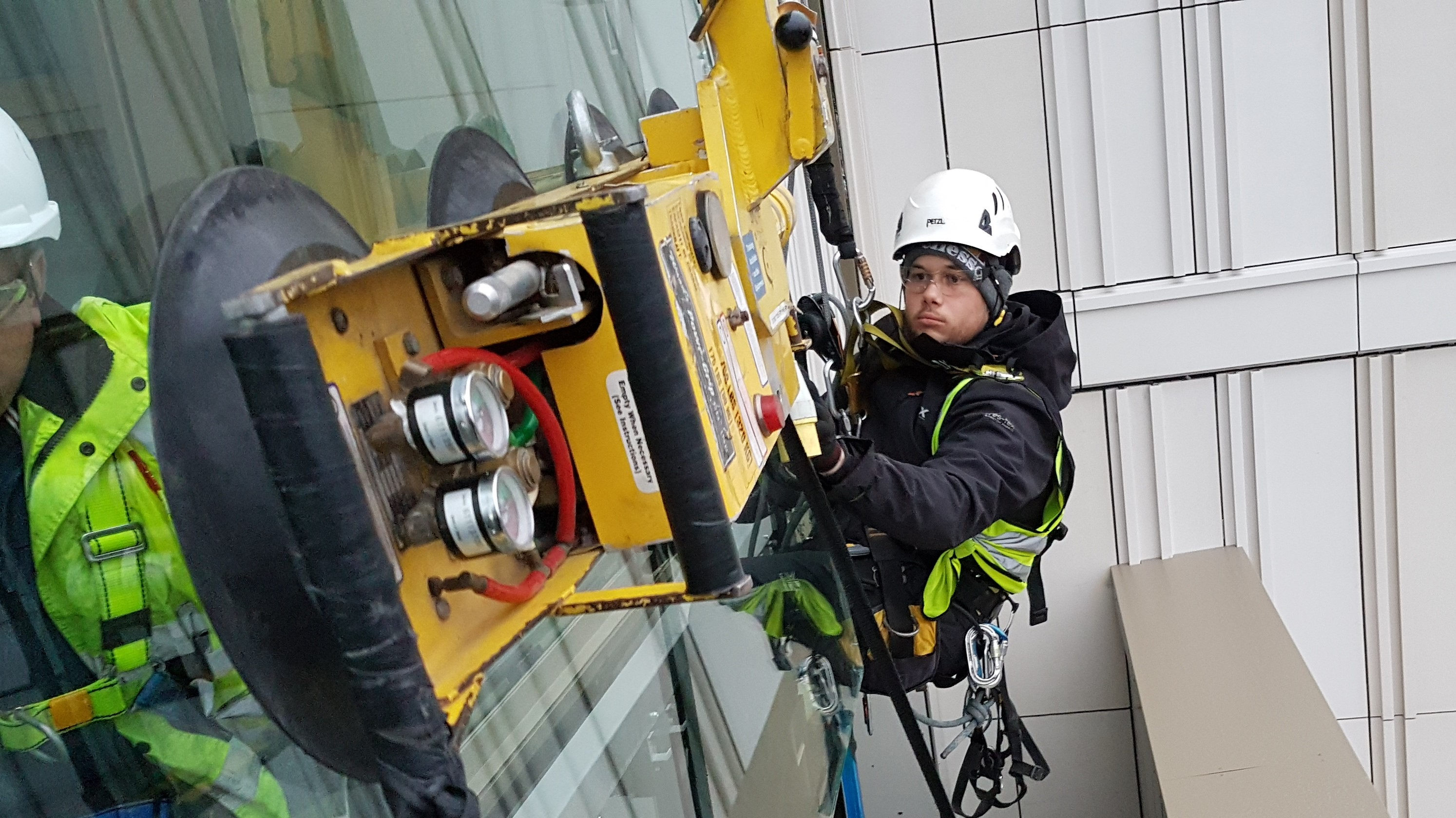rope access glass replacement