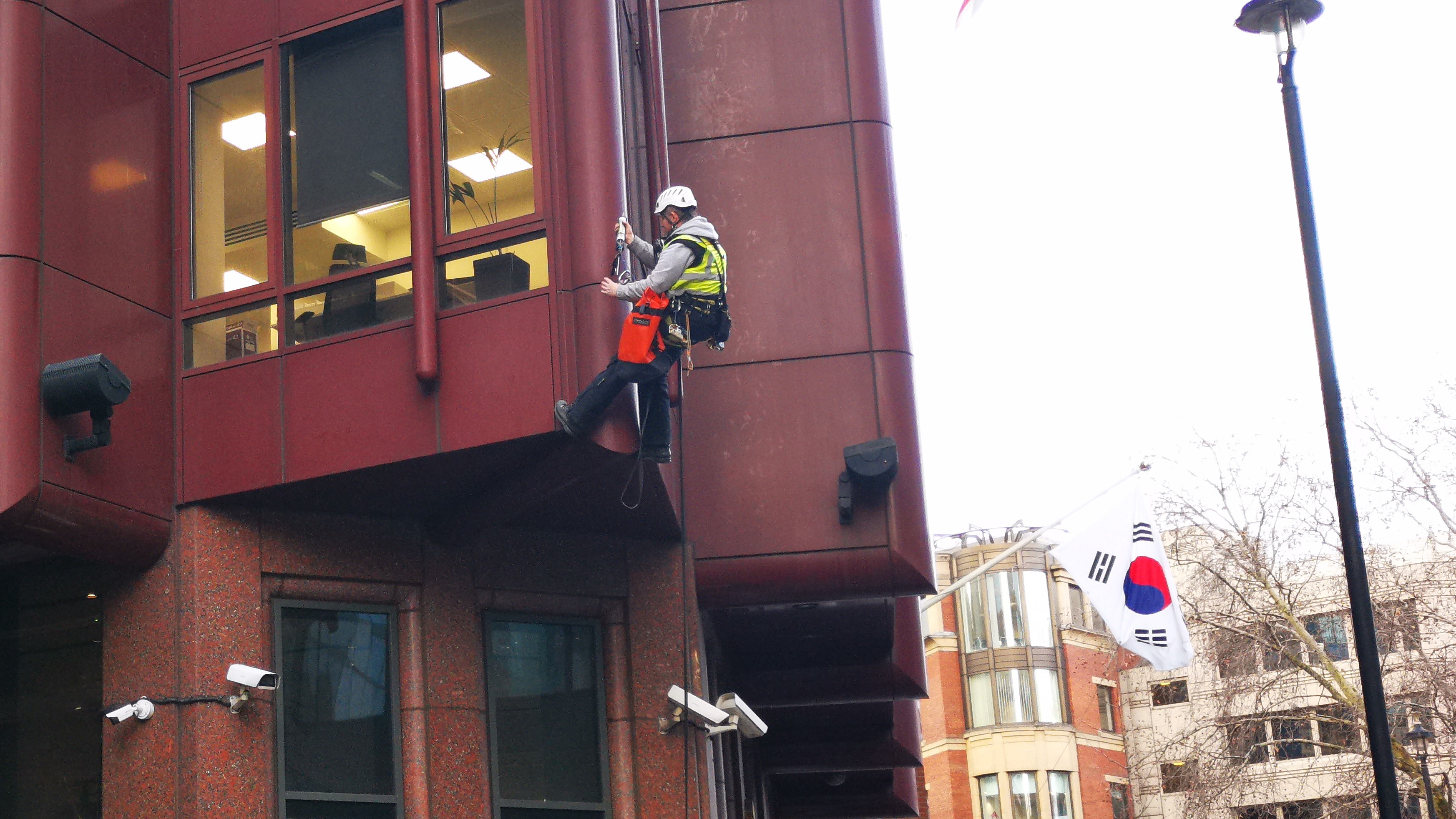 abseiling mastic waterproofing korean embassy