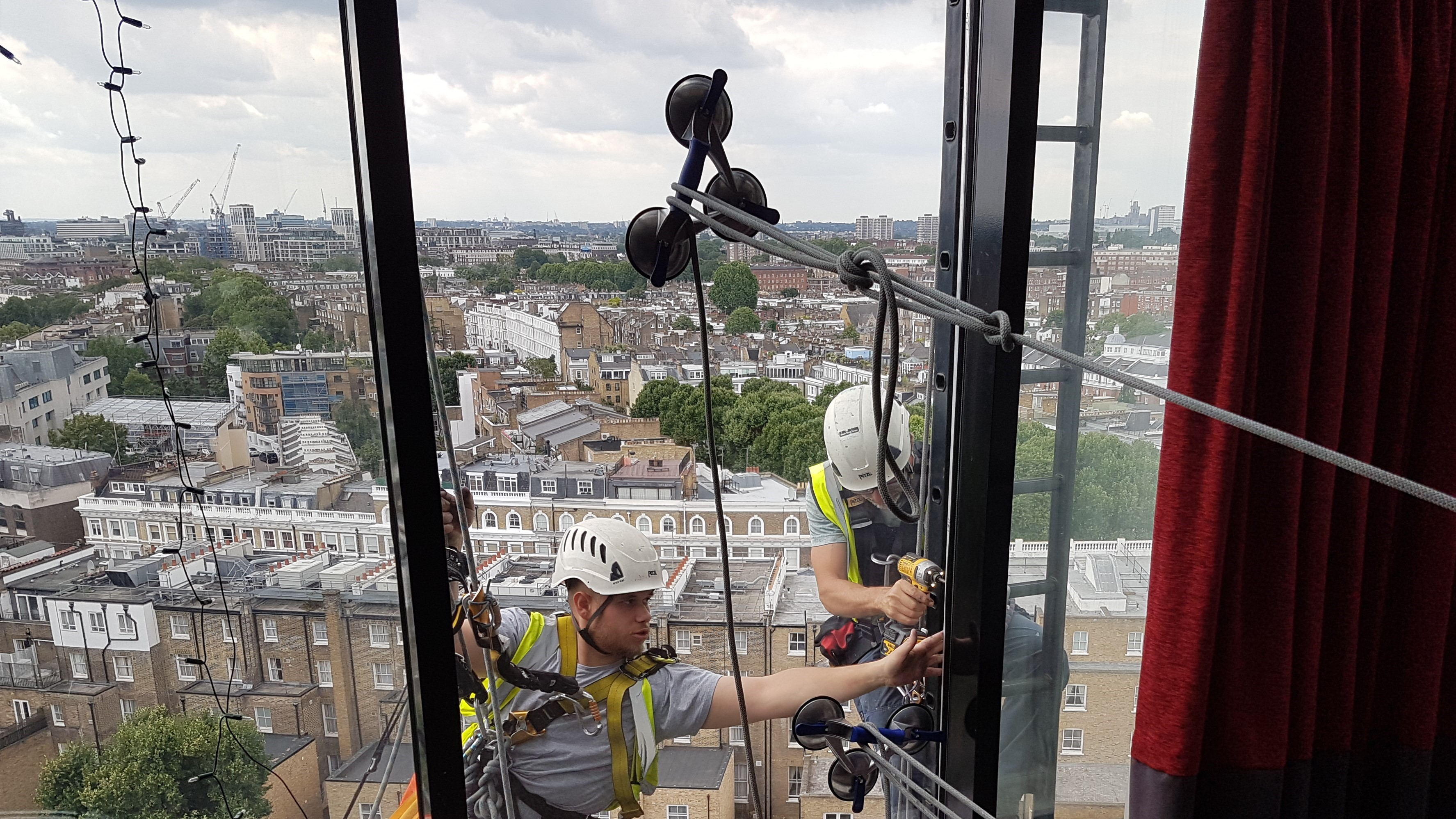 rope access commercial glazing