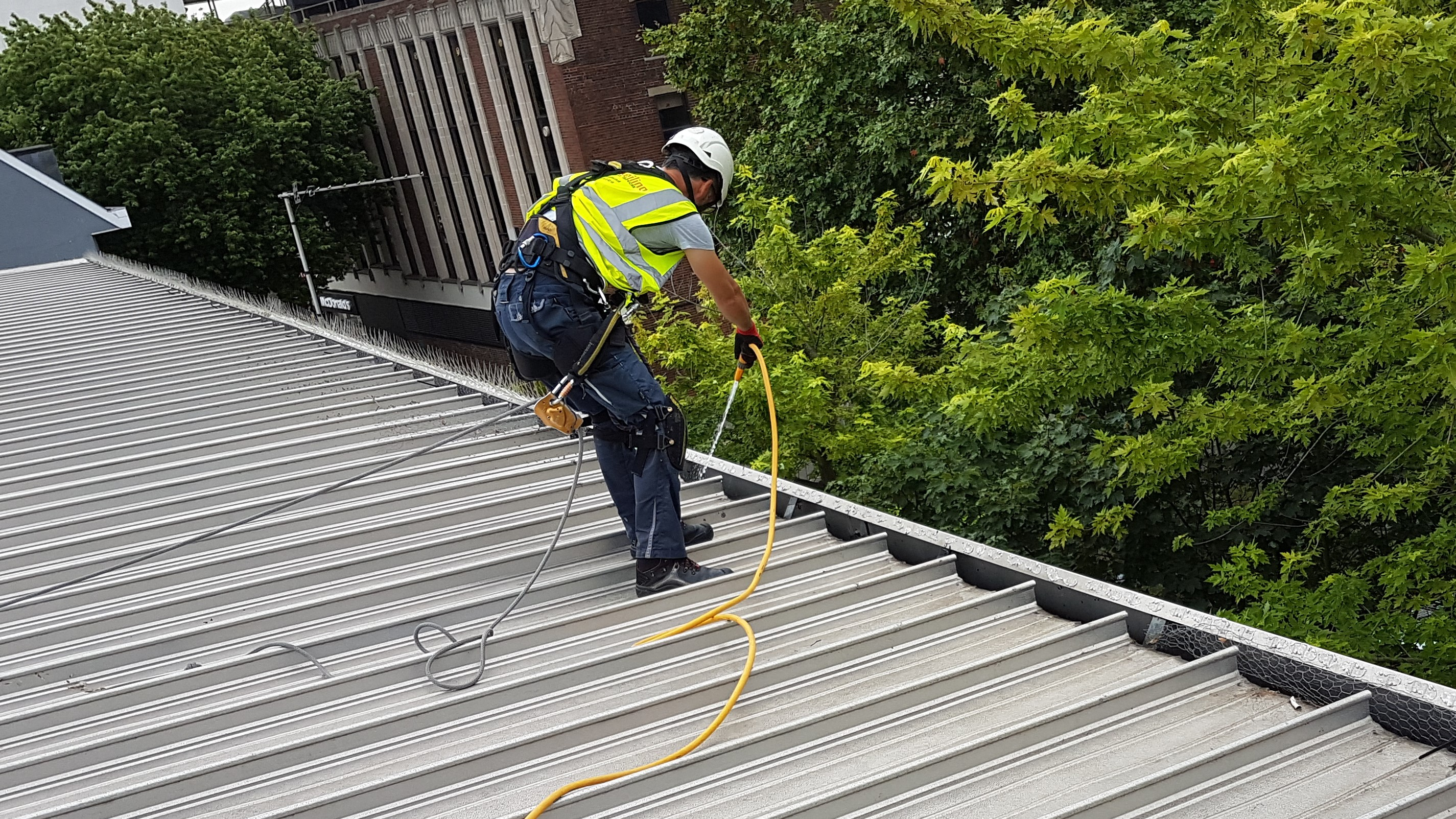 rope access gutter cleaning