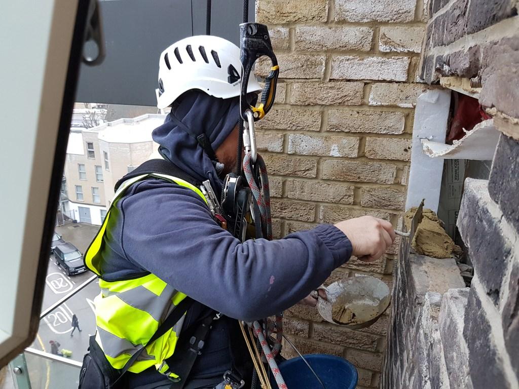 rope access brickwork repairs