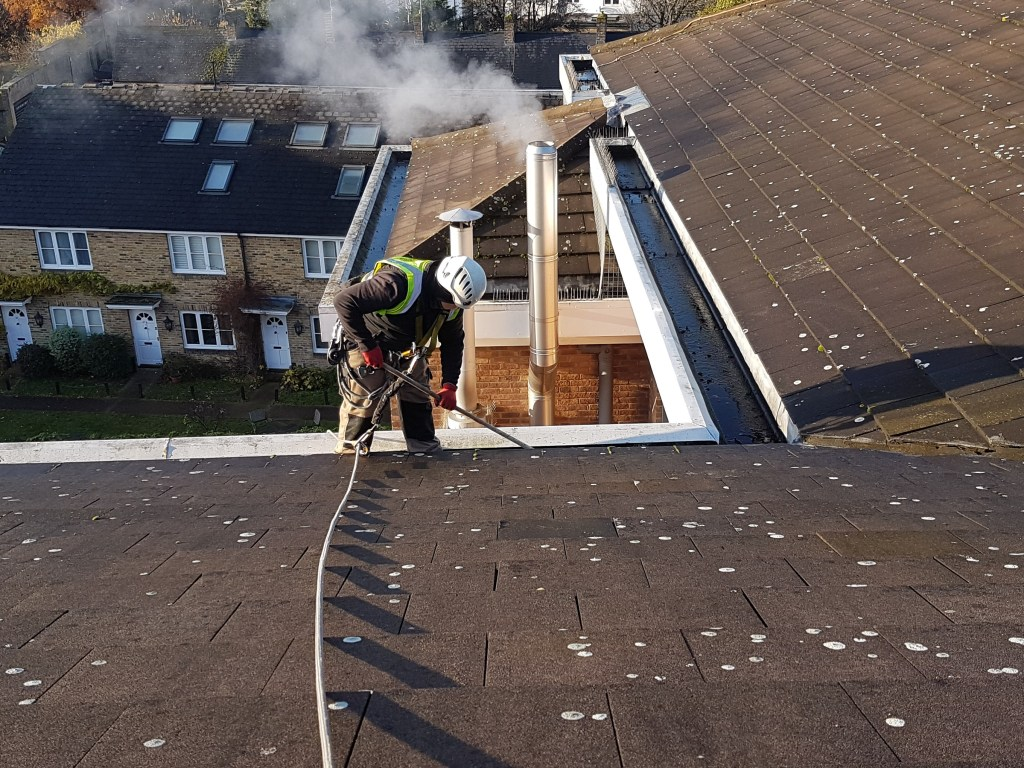 gully cleaning without scaffolding