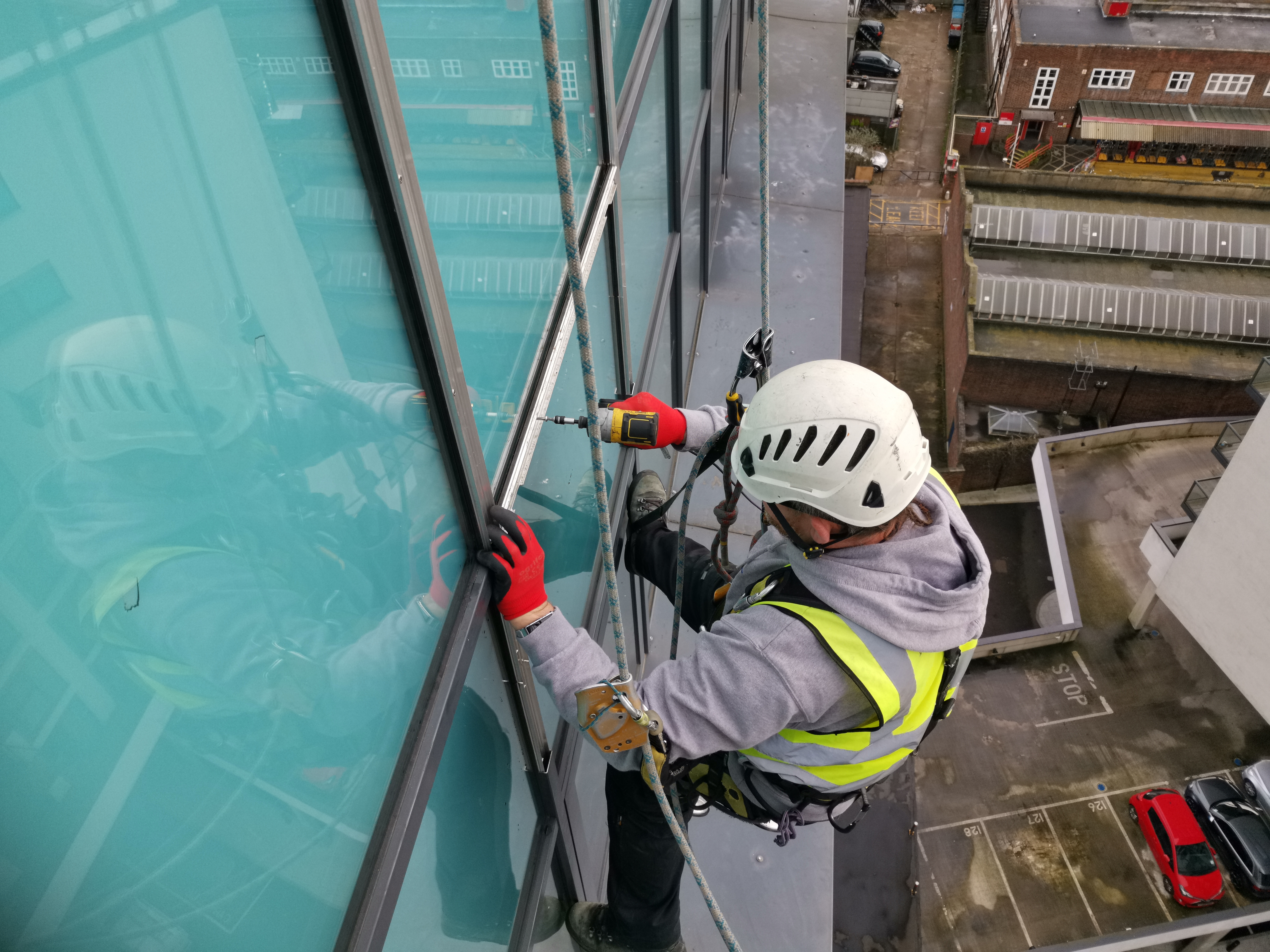 high level coloured glass replacement