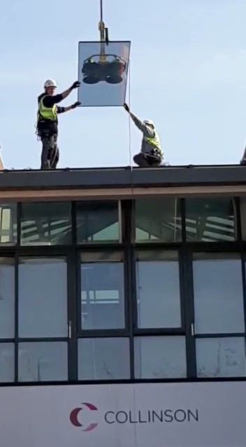 high level skylight glazing