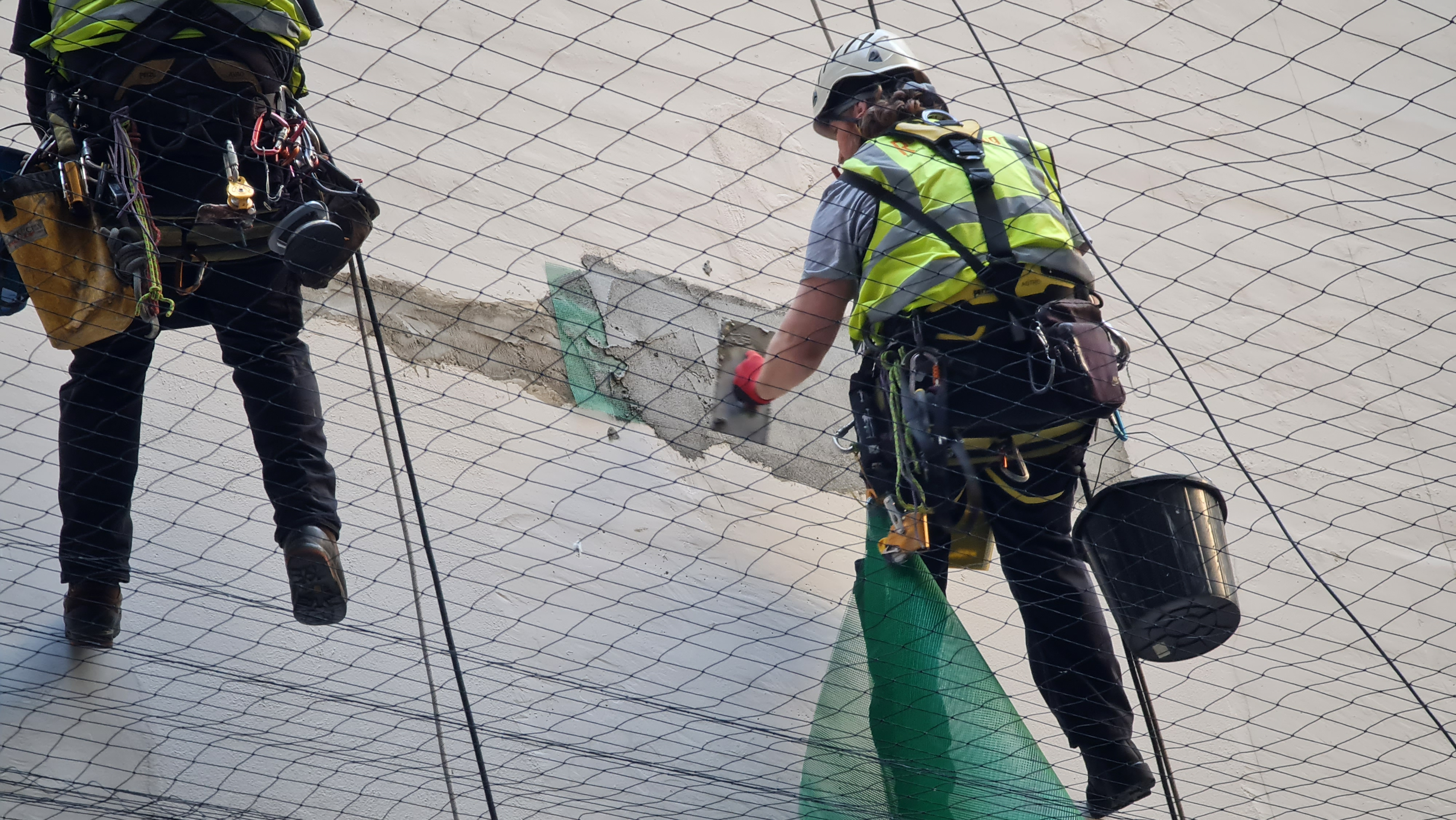 rope access plastering