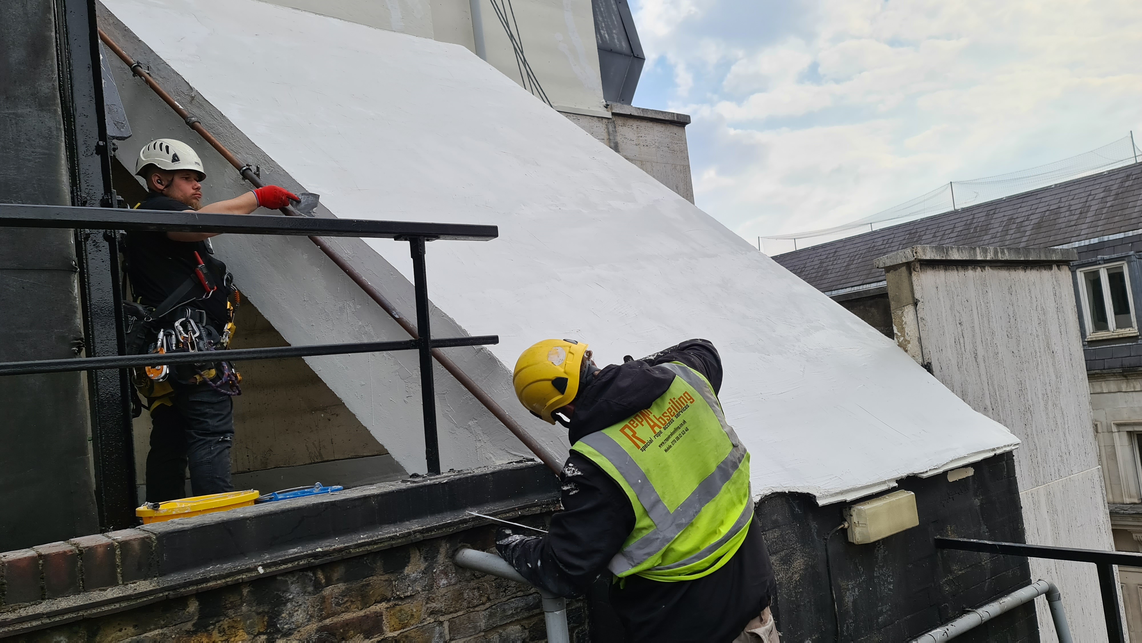 plastering abseiling