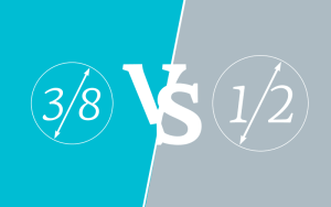 3/8 vs 1/2 What is bigger?