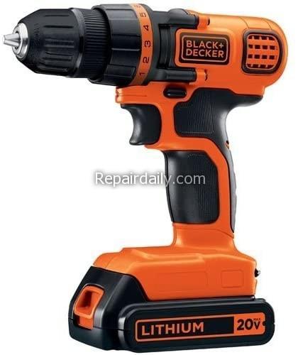 decker 20V max cordless drill