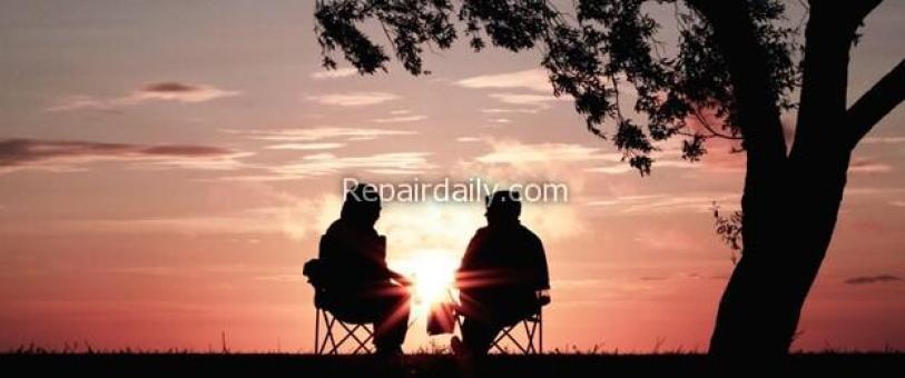 couple enjoying sunset