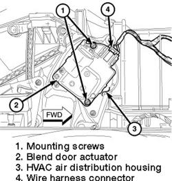   Repair Guides   Blend Door Actuator   Removal