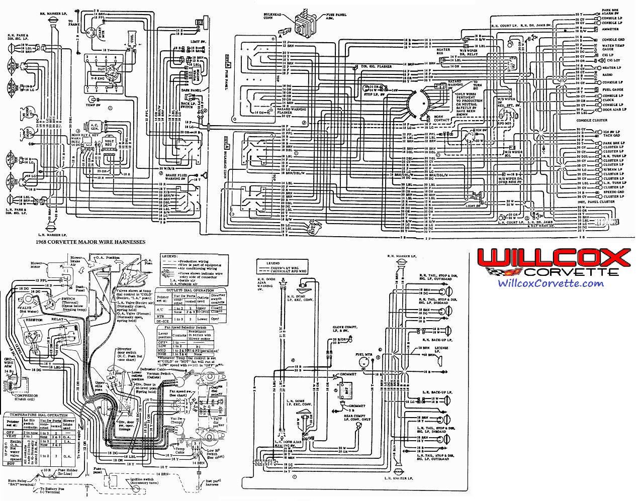 1968 Corvette Wire Schematic 68 Corvette From The AIM