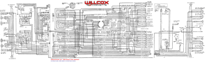 1968 Corvette Wiring Diagram (tracer schematic) | Willcox Corvette, Inc