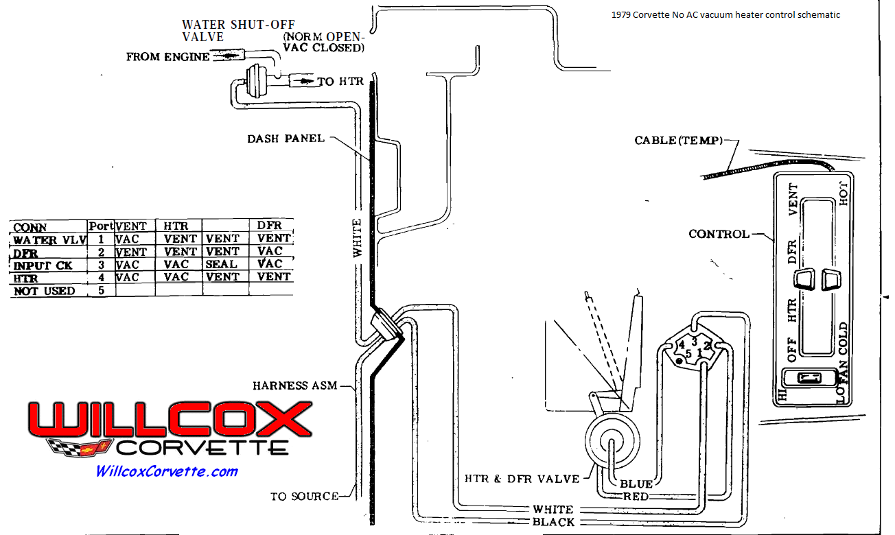 Corvette No Air Heater Control Vacuum Schematic