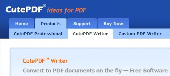 CutePDF - Crear PDF gratis