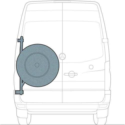 Spare tire carrier for sprinter van