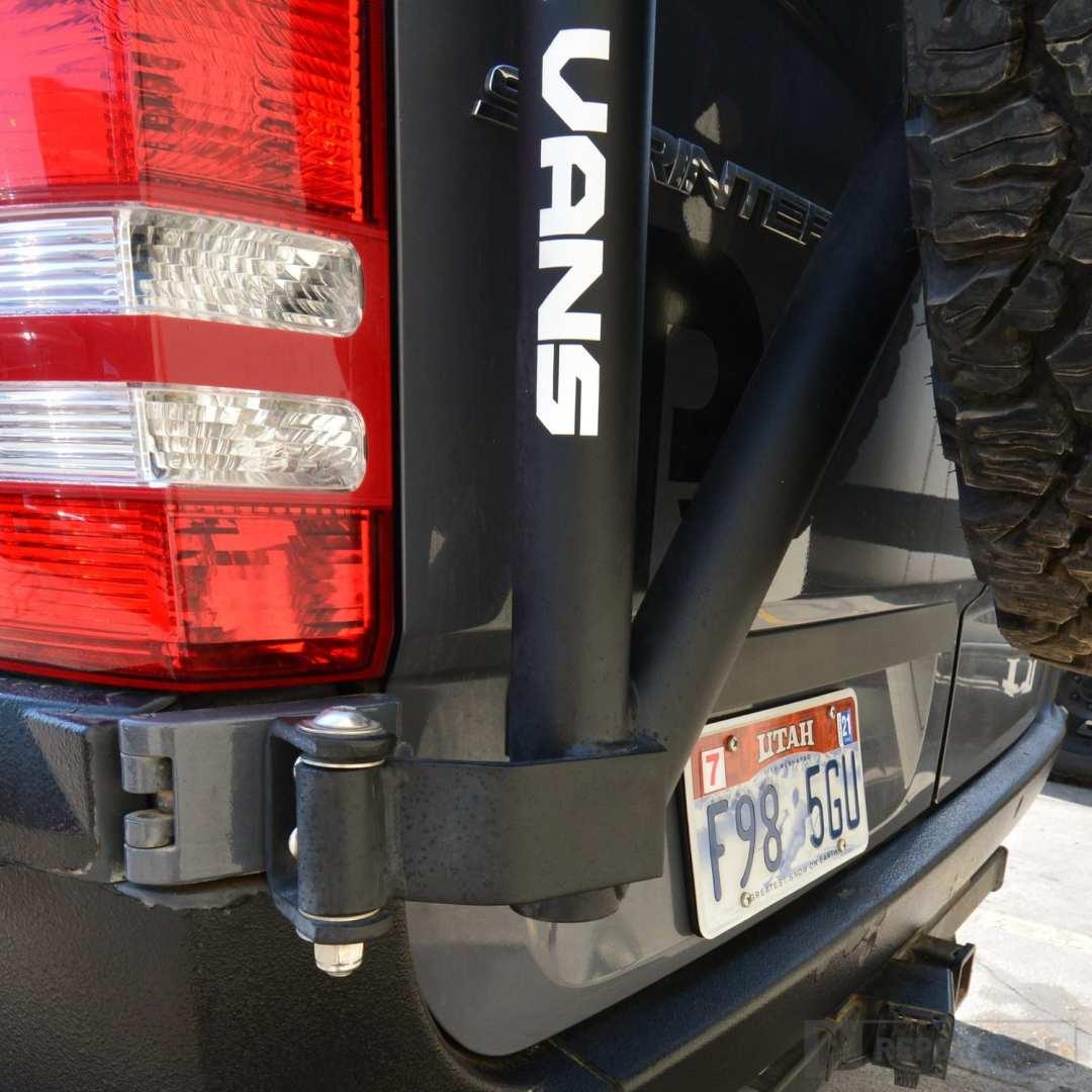 Lower hinge mount for NCV3 Sprinter Van spare tire