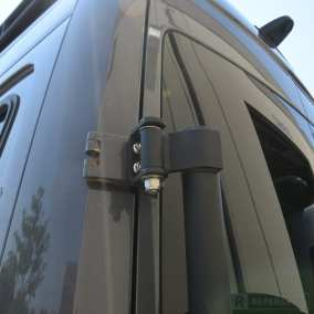 Hinge mount for NCV3 Sprinter camper van spare tire carrier