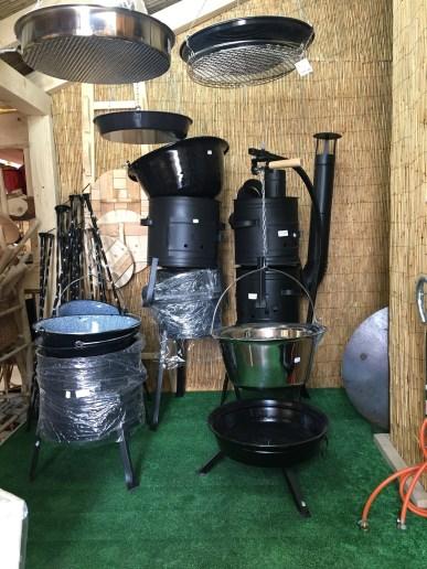 Hungarian Goulash cauldrons for sale.