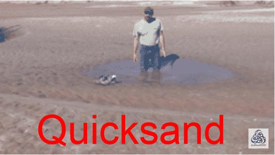 how escape quicksand