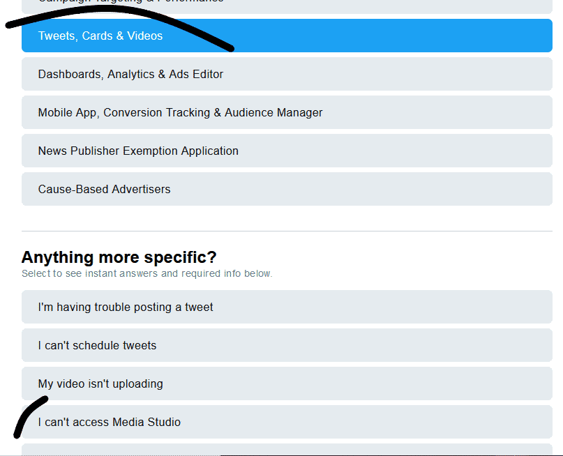 contact support to remove twitter video limit and post long videos