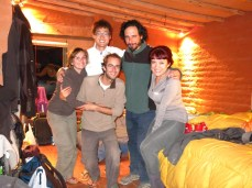 Africa, Jorge, Taeuk, Caroline et Grégory chez Jorge