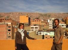 Vue de notre hôtel à La Paz