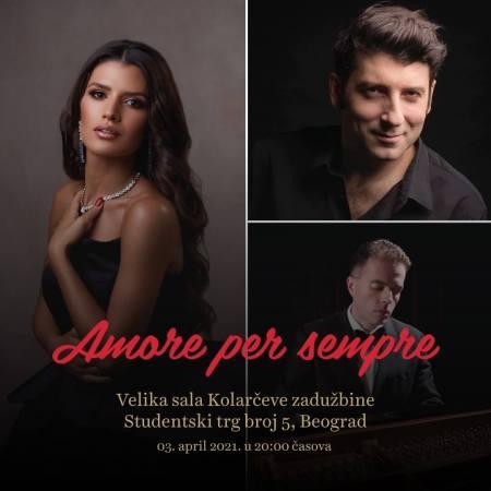 Tamara Rađenović Koncert Amore per sempre Koncerti Kolarčeva zadužbina