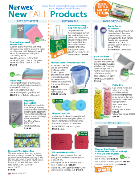 2015 Fall New Norwex Products
