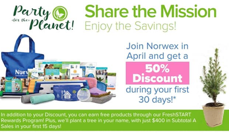 Join Norwex in April and get 50% Consultant Discount for your FIRST 30 days!