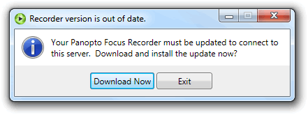 Recorder out of date