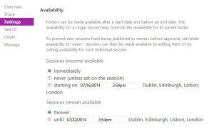 4.6.1 Folder availability