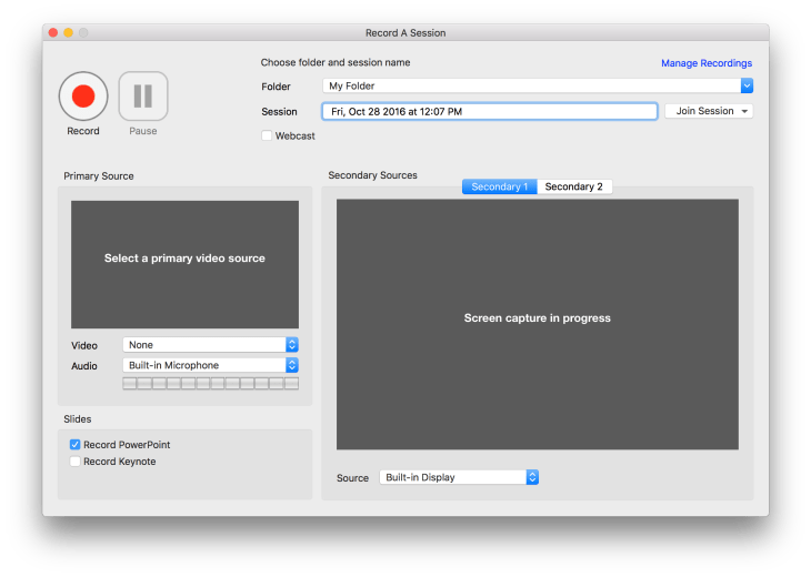 macOS Recorder without screen preview