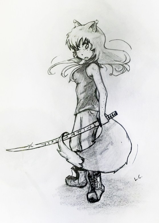 Drawing of Ada by Luke, thanks a lot! She looks badass!