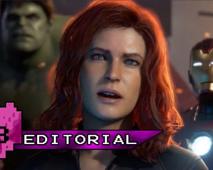 Black Widow in Avengers game