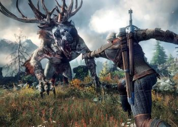 The Witcher 3 Geralt and monster