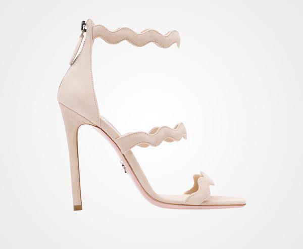 Prada scalloped sandal