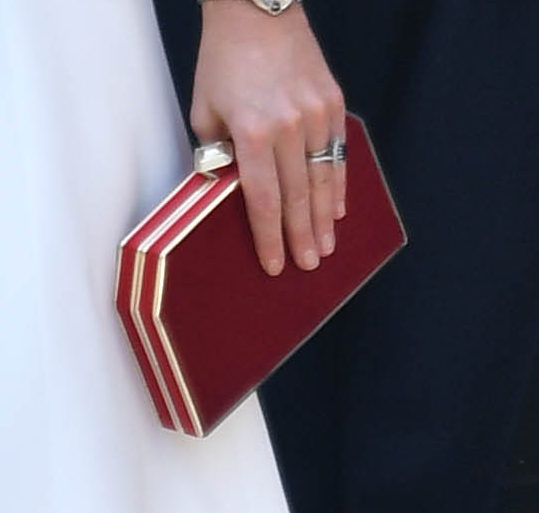 Jenny Packham red 'Casa' clutch