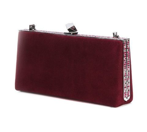 Jimmy Choo 'Celeste' burgundy clutch