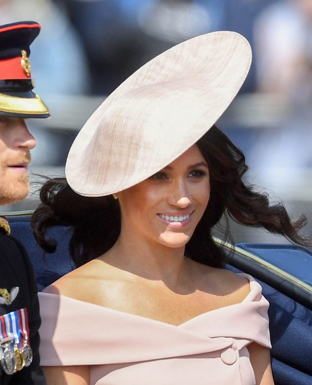 5712ac6fb3a Newly-married Meghan re-wore her Phillip Treacy hat at Trooping the Colour.  i-images