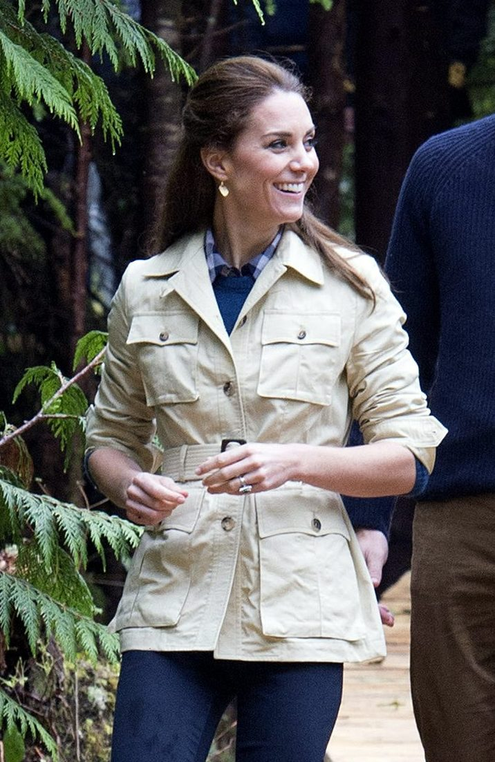 The Duke and Duchess of Cambridge, attend the community dedication of the Great Bear Rainforest to the Queen's Commonwealth Canopy during their 2016 visit to Canada; Kate wears Penelope Chilvers boots. Picture by i-Images / Pool
