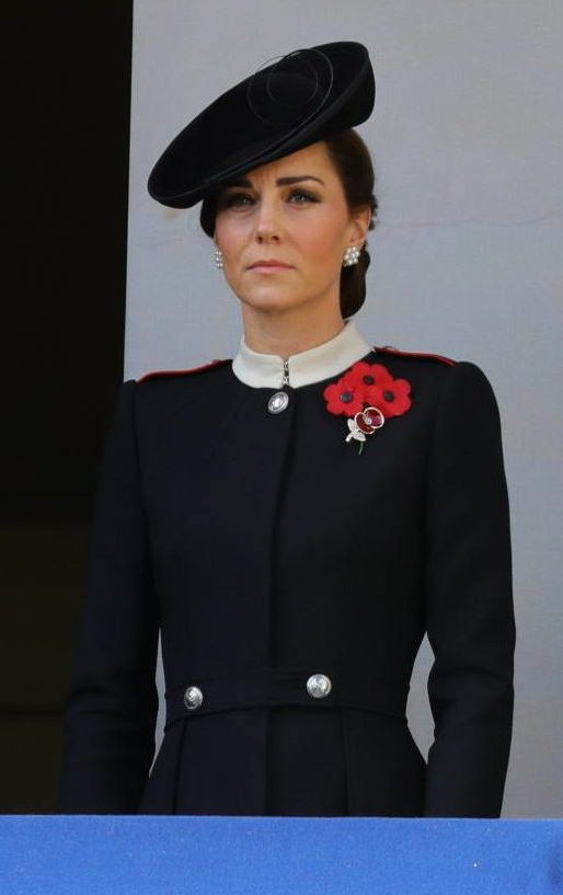 The Duchess of Cambridge on Remembrance Sunday in 2018. (Ministry of Defence)