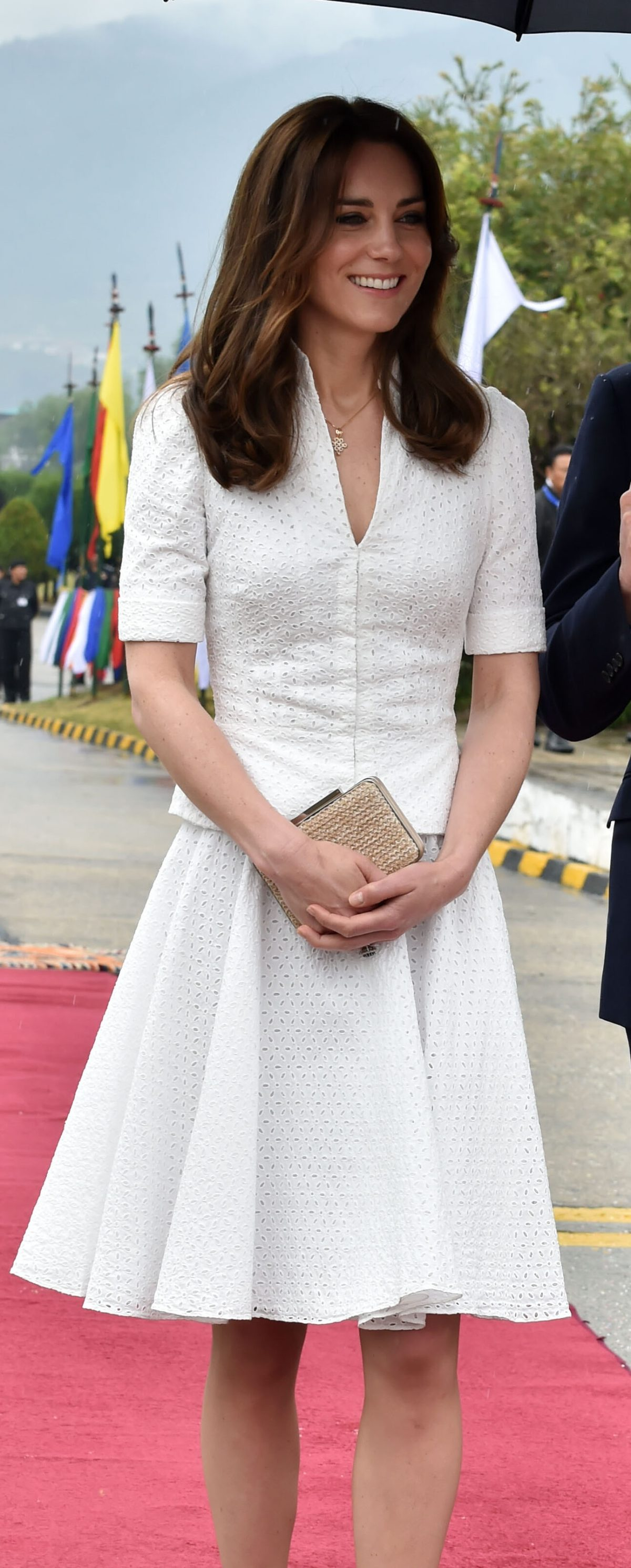 Image licensed to i-Images Picture Agency. 16/04/2016. Agra, India. The Duke and Duchess of Cambridge leaving Paro International Airport  in Bhutan on their way to the Taj Mahal in Agra on the final  day of their tour of India and Bhutan.  Picture by POOL / i-Images