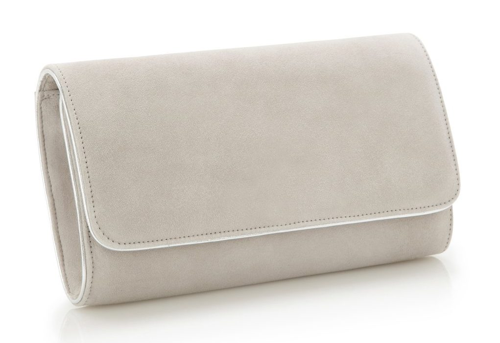 Emmy 'Natasha' vapour grey clutch