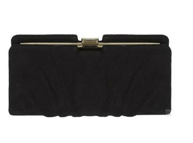 Jenny Packham black 'Roxy' clutch