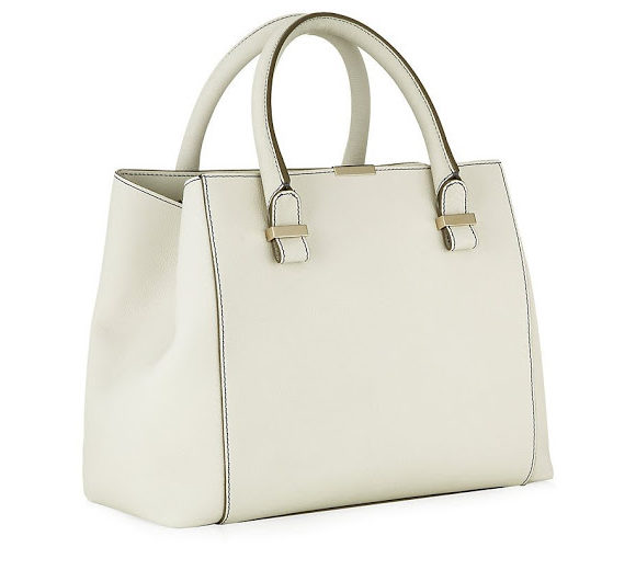 Victoria Beckham white Quincy bag